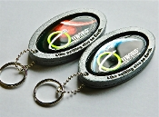 Offworld™ Crecent Earth and Mars badge keychains